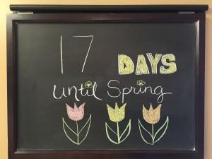 17 days till Spring